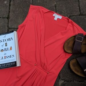 Like new Michael kors red/Coral dress size XS